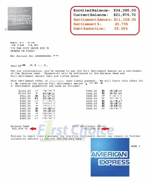 Debt settlement letters amex spiritdancerdesigns Gallery